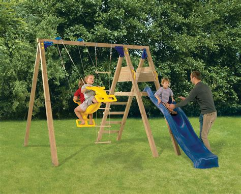 swing play garden swings climbing frames
