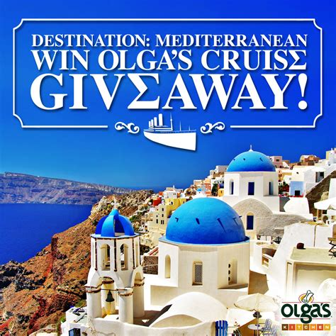 Cruise Giveaways - olga s kitchen mediterranean cruise giveaway gift card contest ends 10 13 mrs