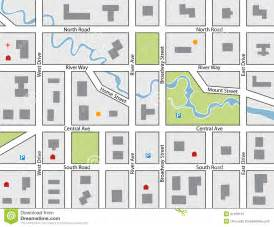 Blank Town Map by Vector Road Map Stock Image Image 31478101
