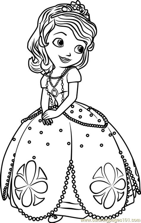Princess Sofia Coloring Page Free Sofia The First Princess Sofia Drawing Free Coloring Sheets