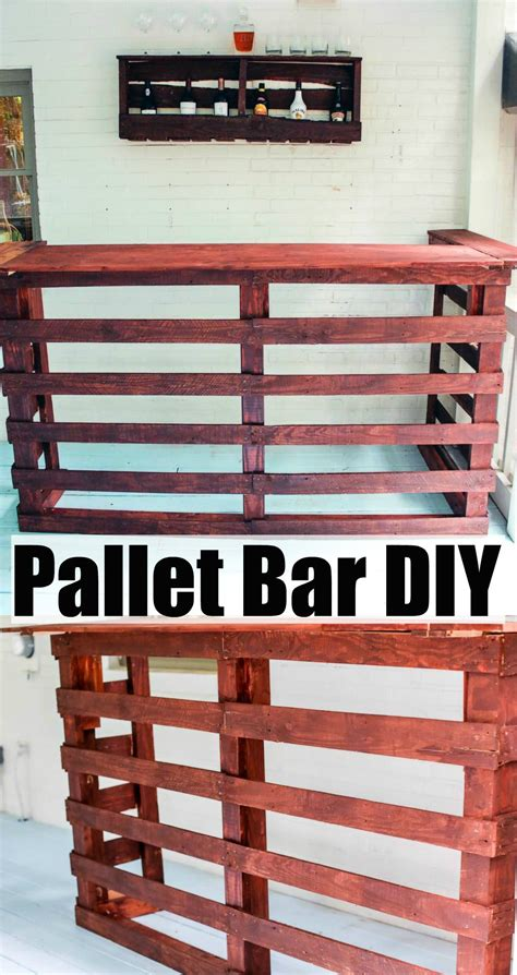 advanced diy projects pallet bar diy happily hughes