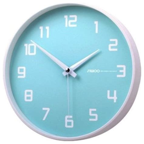 surprise savings on quiet wall clocks fruity blueberry non ticking silent wall clock baby blue