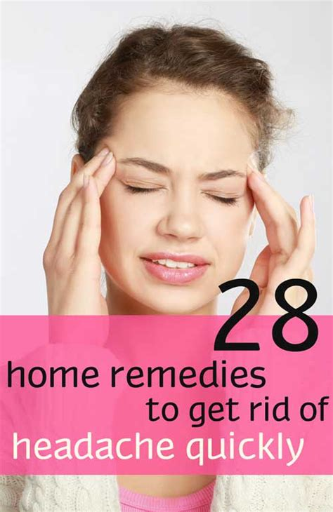 28 home remedies to get rid of headache quickly