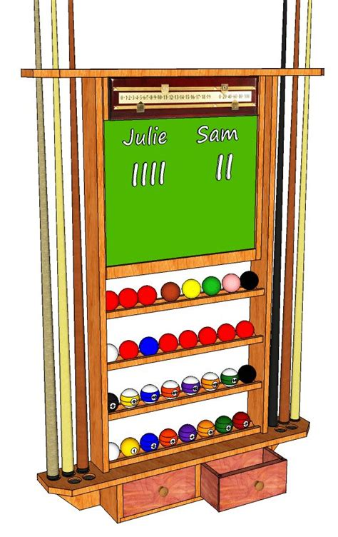 How To A Rack In Pool by Pool Cue Storage Rack 061 3d Woodworking Plans