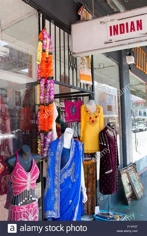 indian clothing dress store shop in king stock photo