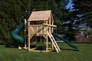 cedar swing sets the bailey space saver deluxe
