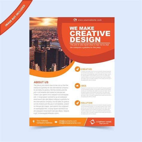 ready made templates for brochures eps flyer template free download print ready wisxi com