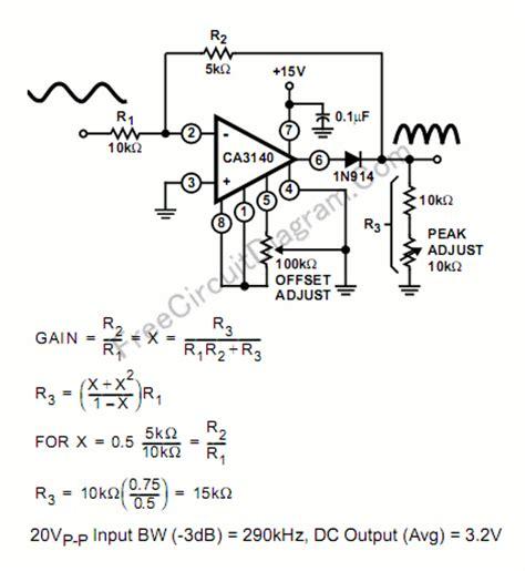 rectifier circuit using op single supply precise wave rectifier using ca3140 op circuit wiring diagrams