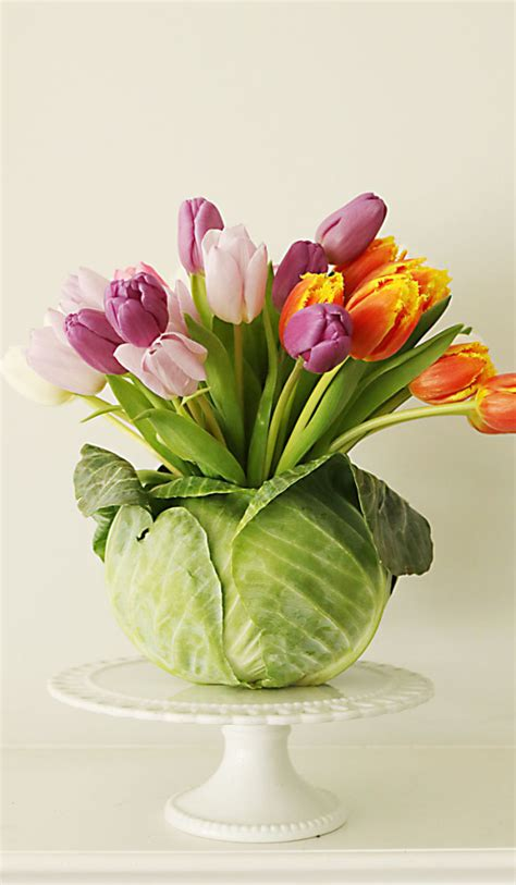 Floral Arrangements by Diy Tulip Cabbage Flower Arrangement For Easter Flower