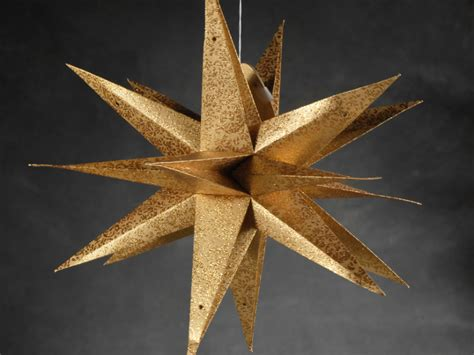 How To Make A Moravian Out Of Paper - large 22 quot gold moravian multi point 3 d decorations