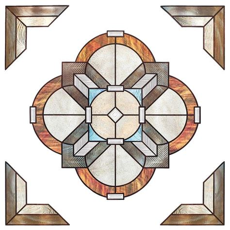 decorative window film home depot artscape 12 in x 12 in newport amber medallion