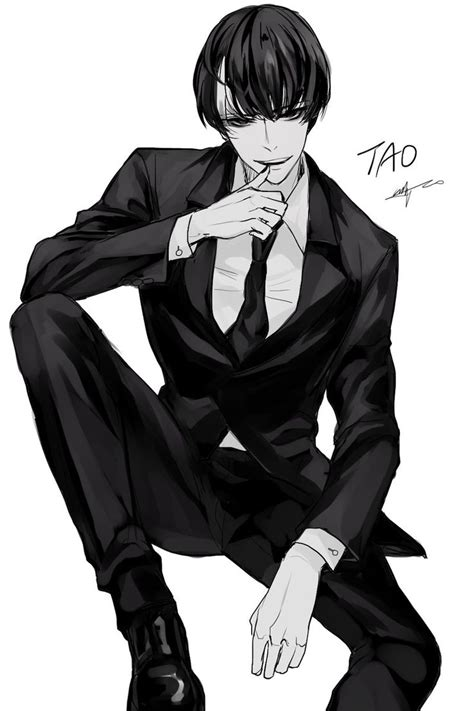 anime cool boy with tuxedo anime boy in a suit free