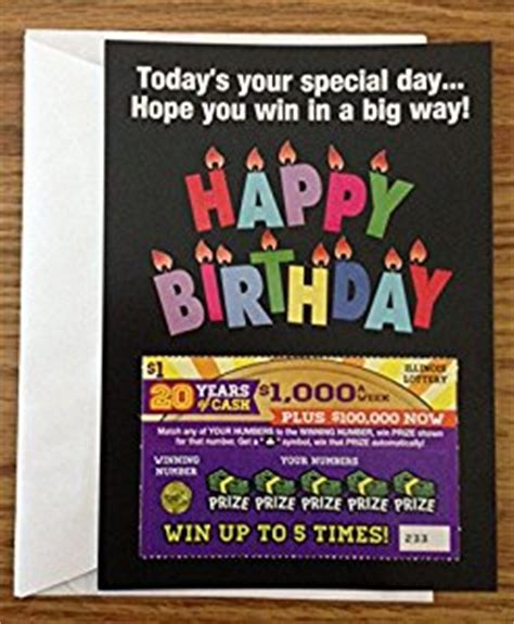 Amazon Gift Card Number Scratched Off - amazon com happy birthday greeting card lottery ticket holder office products