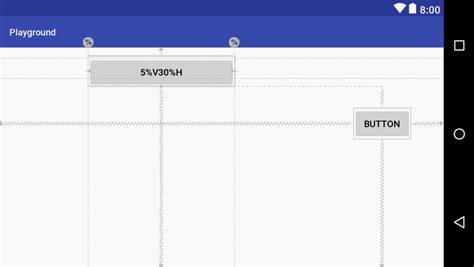 use a layout height of 0dp android constraintlayout percentage based dimensions
