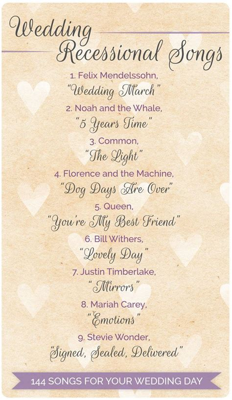 144 swoon worthy songs for every part of your wedding day songs recessional songs and wedding