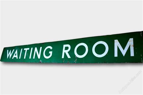 waiting room signs antiques atlas original enamel waiting room sign c1940s