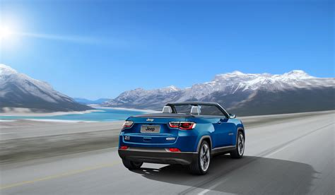 jeep compass convertible rear  quarters rendering