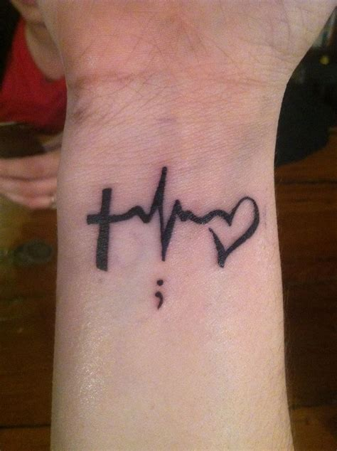 tattoo meaning faith faith hope and love with a semi colon meaning you could
