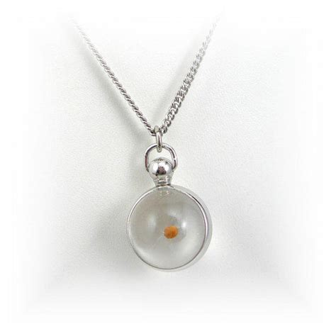 how to make mustard seed jewelry mustard seed pendant necklace silvertone from