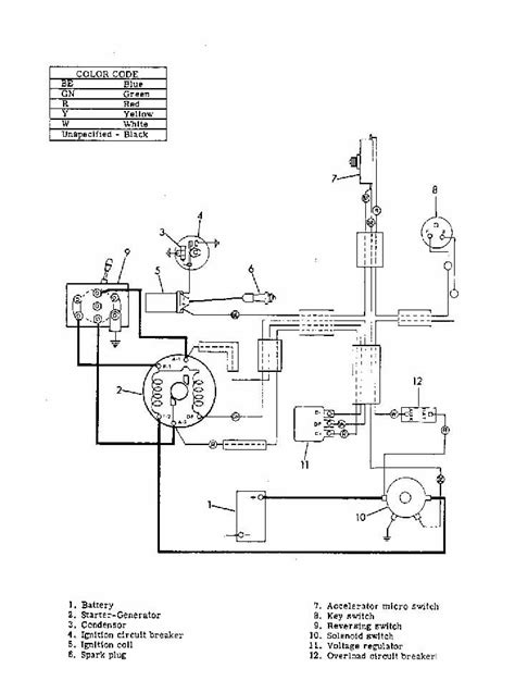 36 volt yamaha golf cart wiring diagram get free image
