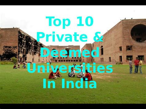 Top 25 Mba Colleges In Usa by Top 10 Deemed Universities In India 2015