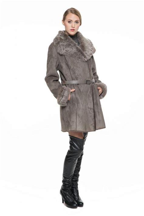 Faux Suede Lapel Coat adelaqueen s faux suede lapel coat with real rabbit