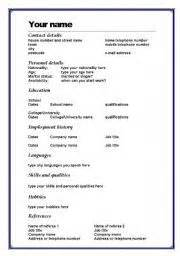25 best ideas about english cv template on pinterest cv