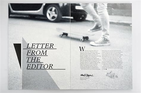 letter design editor letter from the editor magazine layouts pinterest