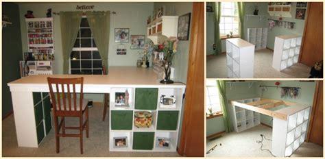 craft desk diy how to diy custom craft desk with storages beesdiy