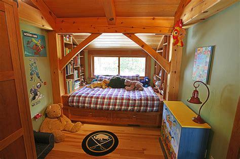 New Energy Bedrooms | platform bed in timber frame bedroom modern kids new