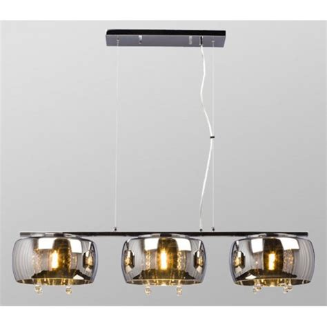 Galaxy Light Fixtures Galaxy Lighting 914673ch Reflections Collections 3 Light Island Pendant Polished Chrome