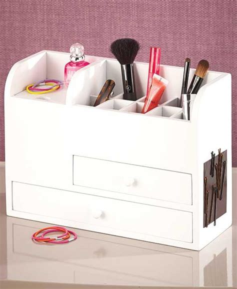 Vanity Makeup Organizer by New Wood Vanity Cosmetic Makeup Storage Organizer