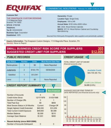 Credit Report Template by Credit Report Templates 8 Free Pdf Excel Documents