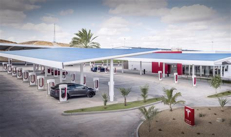 tesla charging stations new tesla superchargers hint at future of public charging