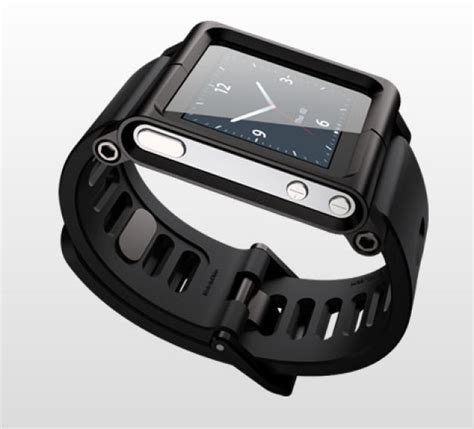 Ipod Nano 6th Like Iwatch Rubber bratara lunatik pentru a transforma ipod nano 6th intr un ceas iwatch multitouch 6971386