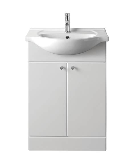 Bathroom Vanity Unit 450 With Basin   Gloss White