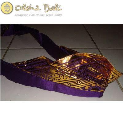 Udeng Poleng Dewasa Setengah Jadi by Udeng Prada Ikat Ungu Oleh2bali Kerajinan Bali
