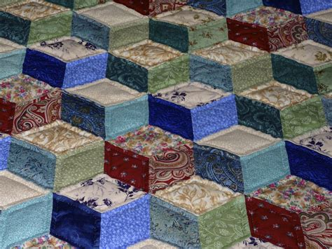 Handmade Quilts Sale - tumbling blocks amish spirit handmade quilts for sale