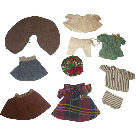 antique bisque doll clothes 10 pieces of antique doll clothing for 5 6 inch all bisque