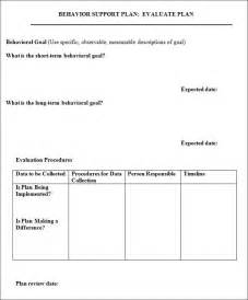 behavior support plan template best template idea