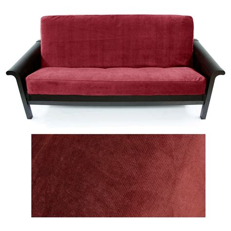 Skirted Futon Slipcover by Microfiber Velvet Merlo Skirted Futon Cover
