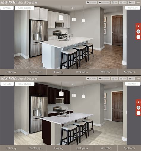 virtual kitchen designer online arizona home builder launches virtual kitchen design tool