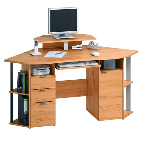contemporary corner desk to maximize space usage