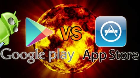 Play Store Vs Istore S Play Store And Apple S App Store An Infographic