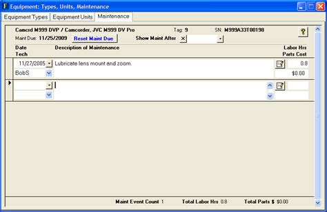 reset 2k16 online record facil online tour equipment maintenance