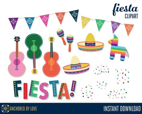 clipart festa clip illustrations creative market