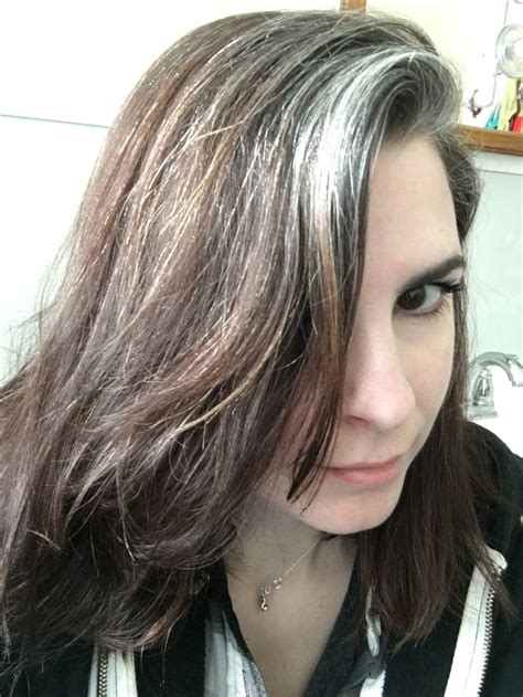 gray streak in hair 1000 ideas about gray highlights on pinterest gray hair