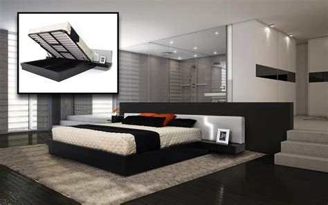 modern bed with storage bedroom storage collections