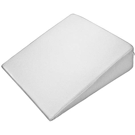 bed bath wedge pillow pharmedoc 174 standard wedge pillow in white bed bath beyond
