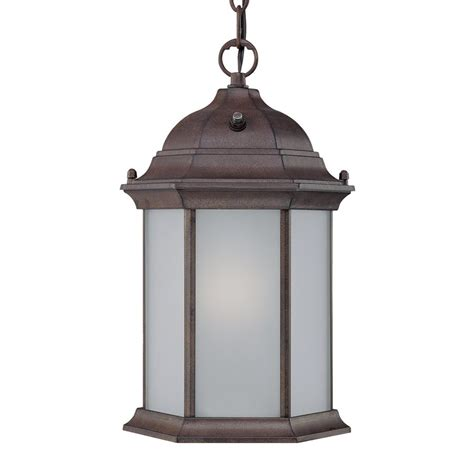 Outdoor Shop Lighting Shop Acclaim Lighting 14 In Burled Walnut Outdoor Pendant Light At Lowes